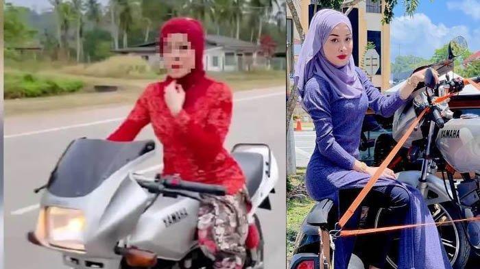 Perempuan Berkebaya Merah Bak 'Abang Jago' Ngebut Motor, Viral di Sosmed, Surat Tilang Tiba di Rumah
