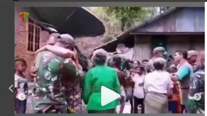 Berpisah dari Prajurit TNI yang Selesai Tugas, Respon Warga di Perbatasan Ini Tak Diduga-duga