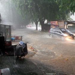Sempat Surut, Banjir Di Pangkalpinang Kembali Meninggi Akibat Hujan
