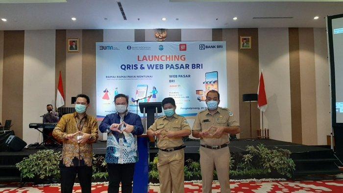 PT Bank Rakyat Indonesia (BRI) Cabang Pangkalpinan Luncurkan QRIS dan Web Pasar BRI