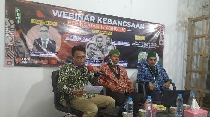 Ajak Masyarakat Tanamkan Ideologi Pancasila, HMI Bangka Belitung Gelar Webinar Kebangsaan