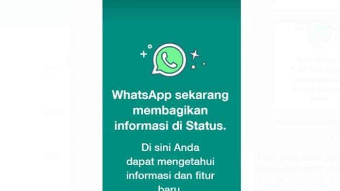 Mendadak Muncul Pemberitahuan WhatsApp di Status Pengguna, Apa Apa?