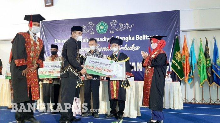 Universitas Muhammadiyah Bangka Belitung Wisuda 151 Sarjana, Ini Pesan Rektor - wis1.jpg
