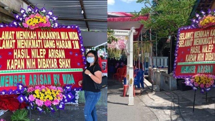 Kisah Pengantin Dikirim Karangan Bunga, Ucapannya Selamat Menikmati Uang Haram