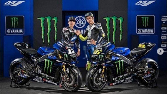 Nonton STREAMING MotoGP Inggris 2019 Pakai Handphone - Valentino Rossi Start di Belakang Marquez