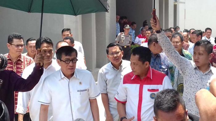 Menteri Hukum dan HAM Yasonna Laoly Revisi PP Berencana Bebaskan Koruptor dan Napi Narkotika