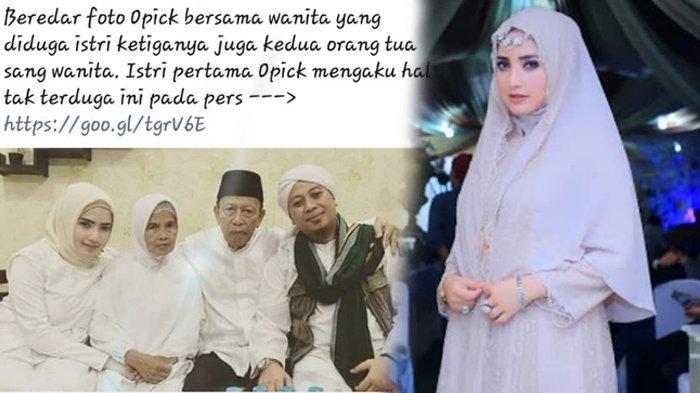 Akhirnya Yulia Mochamad Buka Suara, Itu Bukan Foto Pernikahannya dengan Opick!