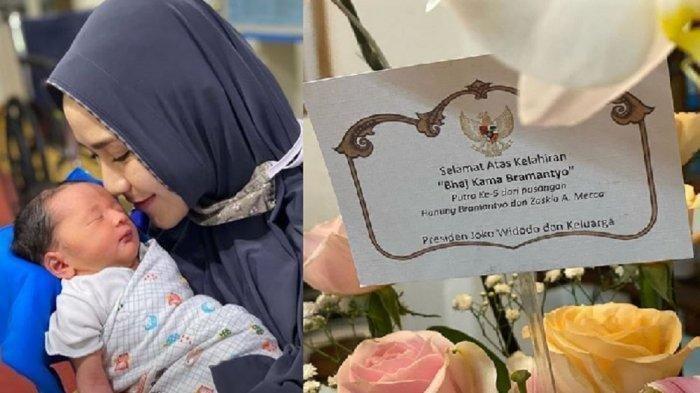 Jokowi Kirim Anggrek dan Ucapan Selamat Atas Kelahiran Anak Hanung Bramantyo-Zaskia Adya Mecca
