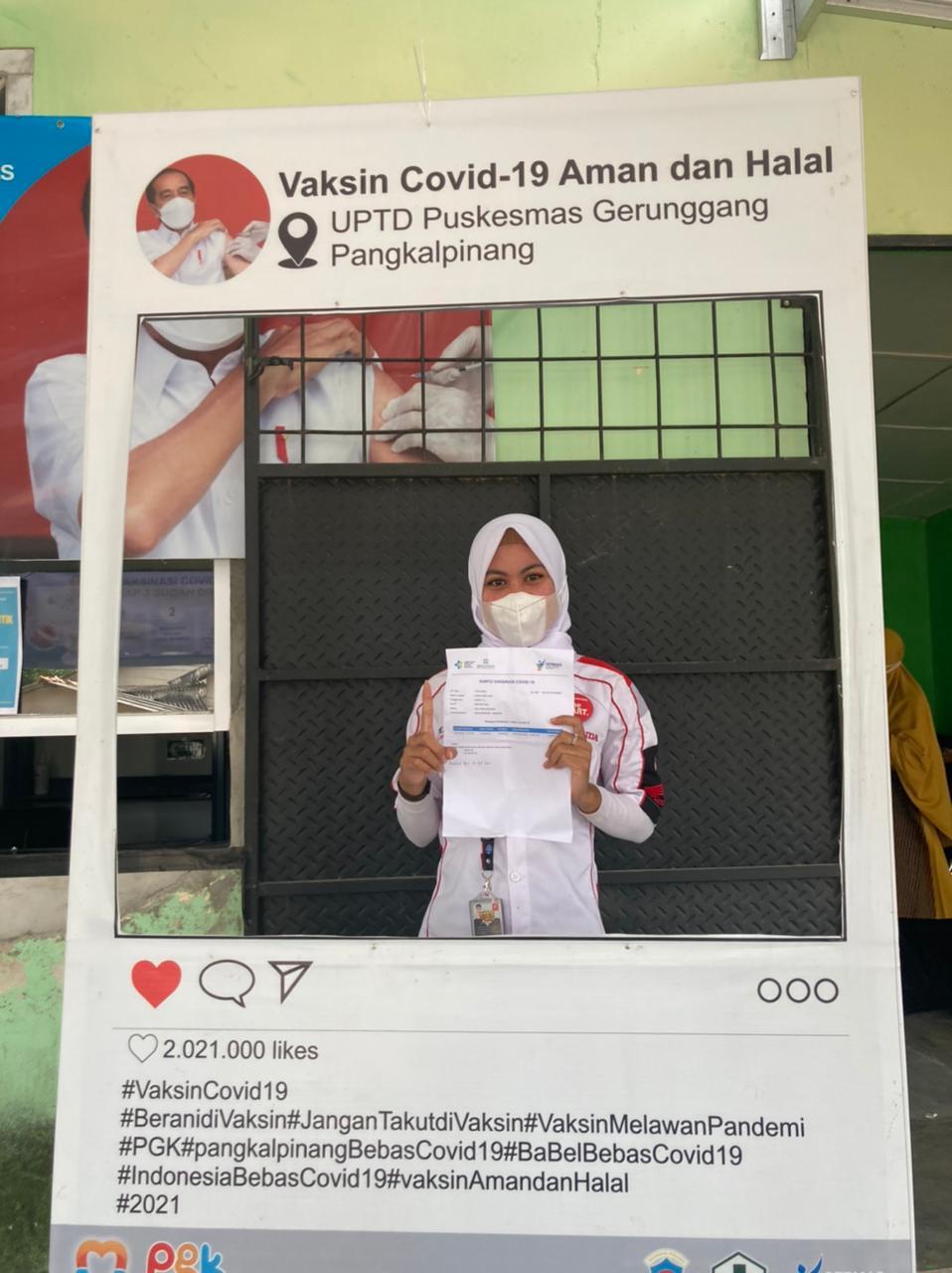 Dealer Tunas Honda telah  melaksanakan vaksinasi Covid-19 untuk seluruh tim nya di Puskesmas Gerunggang (21/06)