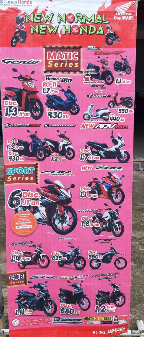 Benner harga dan tipe motor Honda - Kegiatan TDM Jebus dalam rangka servis dan kanvasing (28/06)