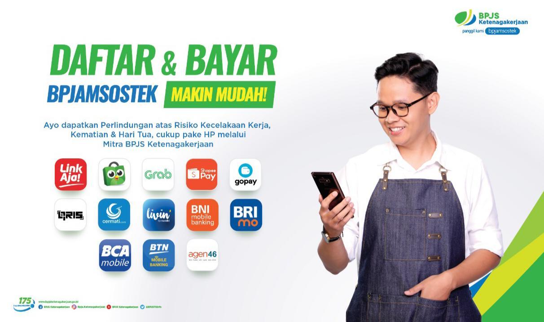 Jaminan Sosial Ketenagakerjaan BPJAMSOSTEK memanfaat teknologi Digital dengan membuka 13 Kanal layanan untuk Pendaftaran maupun pembayaran