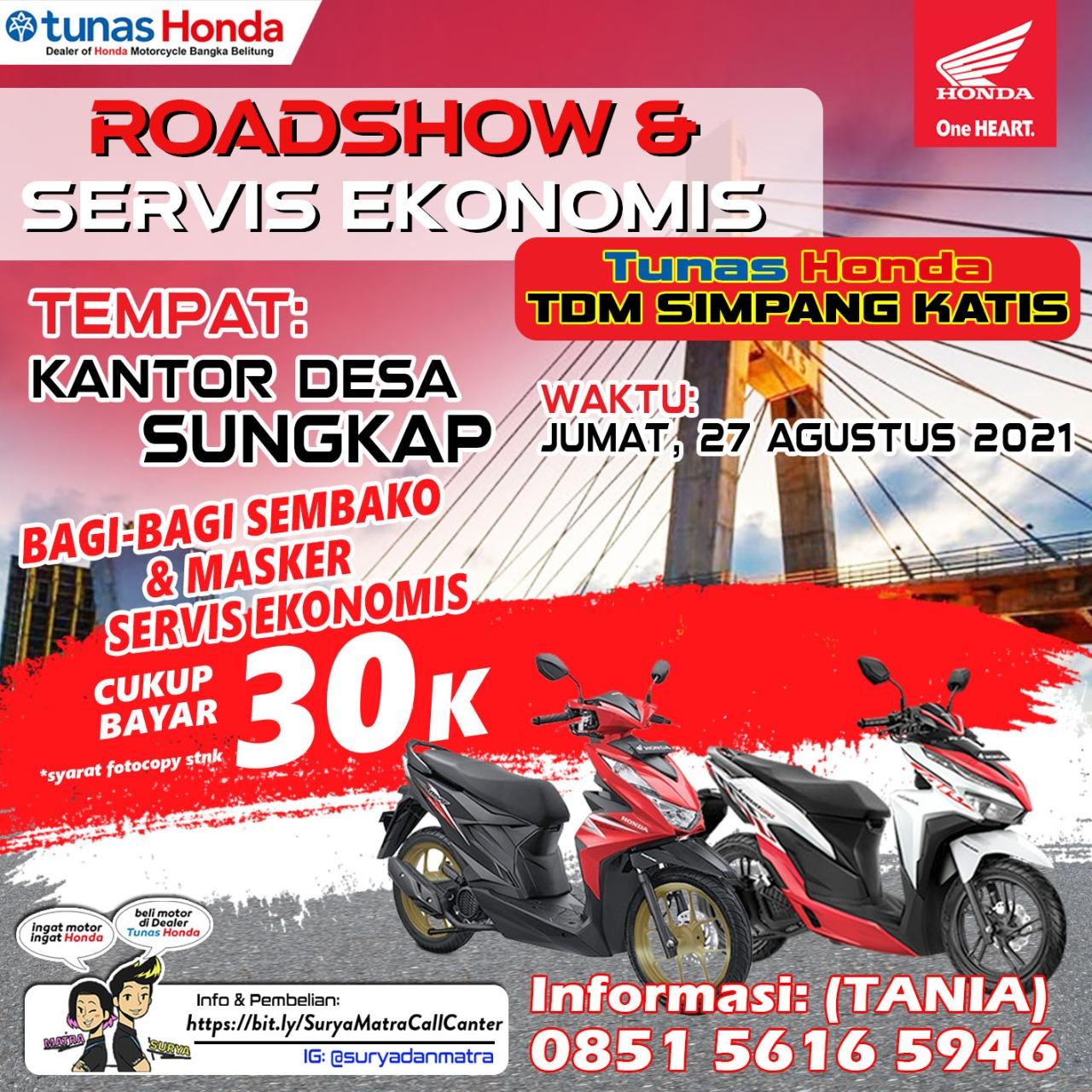 Roadshow & Servis Ekonomis TDM Simpang Katis Hanya bayar 30k