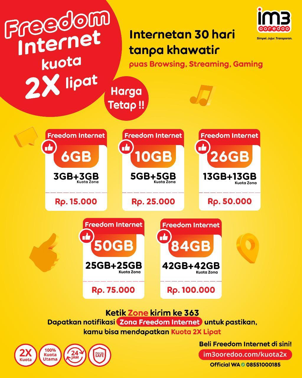 Indosat Ooredoo terus meningkatkan kualitas jaringan dengan menambah dan memodernisasi semua jaringan ke jaringan 4G Plus.