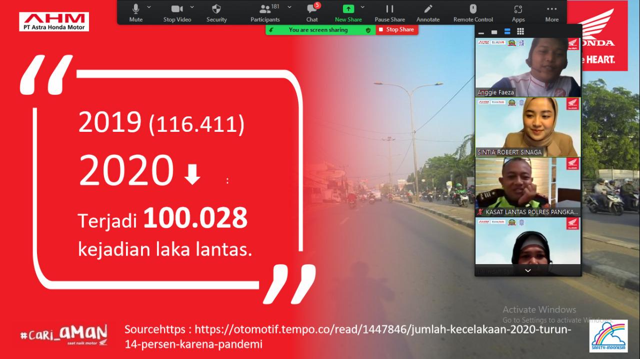 Bersama Satlantas Polres Pangkalpinang, PT Asia Surya perkasa MD Honda Babel ajak Mahasiswa - mahasiswi ISB Atma luhur Menjadi Genarasi Cari_aman untuk indonesia.