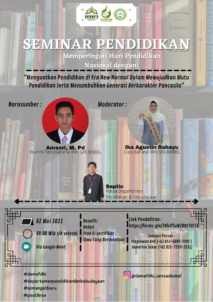 Seminar online pendidikan dengan tema