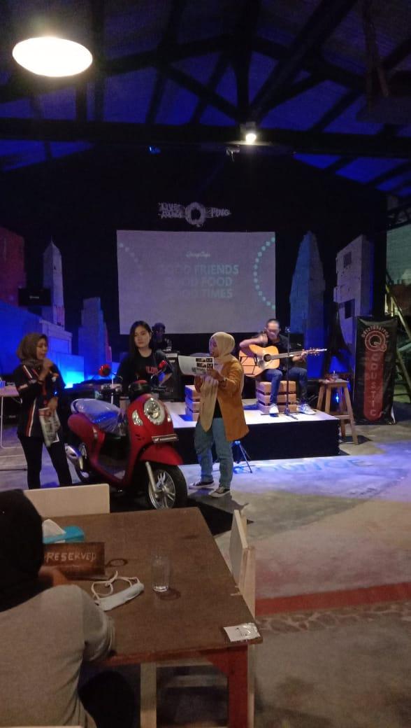 TDM Belinyu luncurkan All New Scoopy terbaru, kegiatan ini berlangsung di Cafe Qping Belinyu. (Sabtu, 5/12/20)
