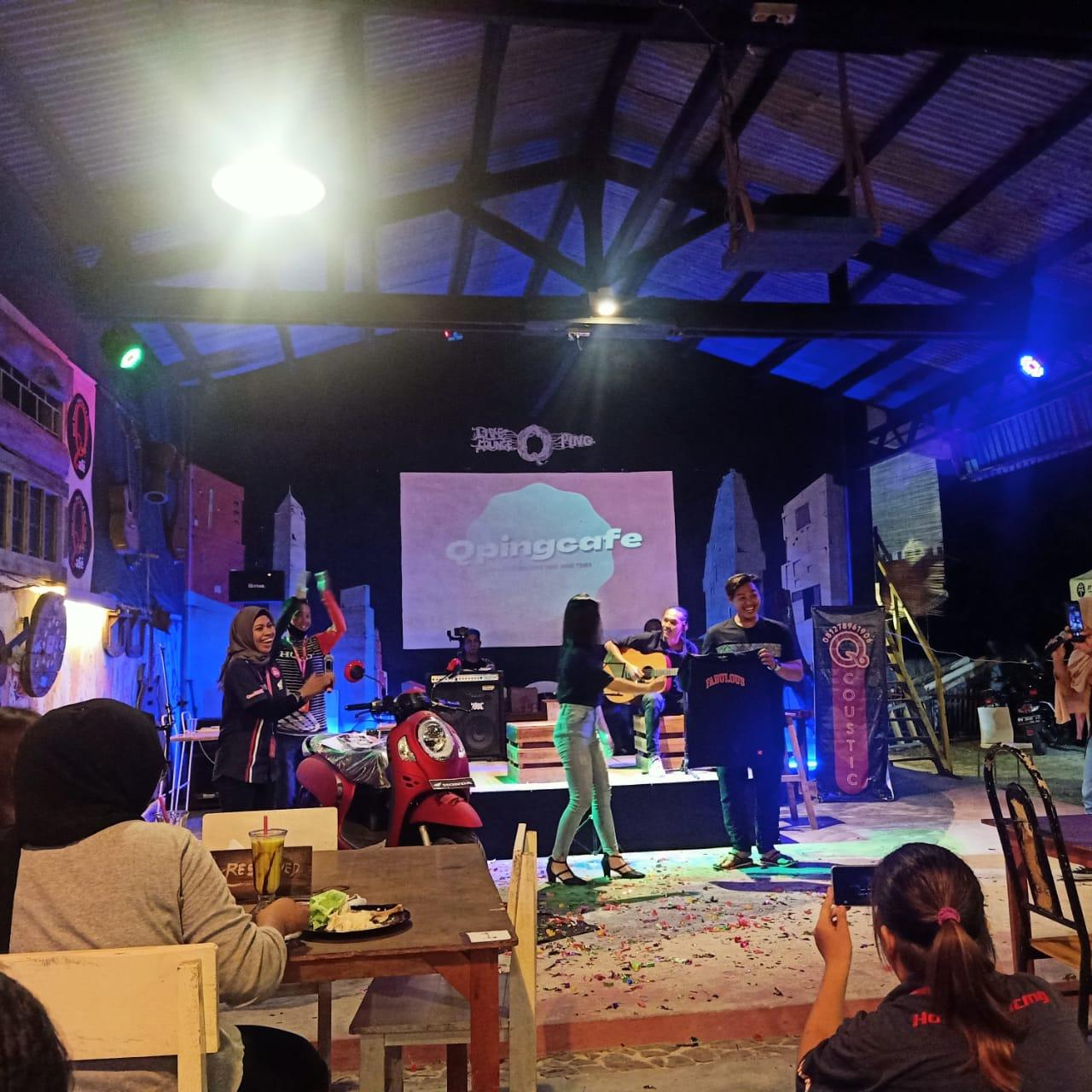 TDM Belinyu luncurkan All New Scoopy terbaru, kegiatan ini berlangsung di Cafe Qping Belinyu. (Sabtu, 5/12/20).