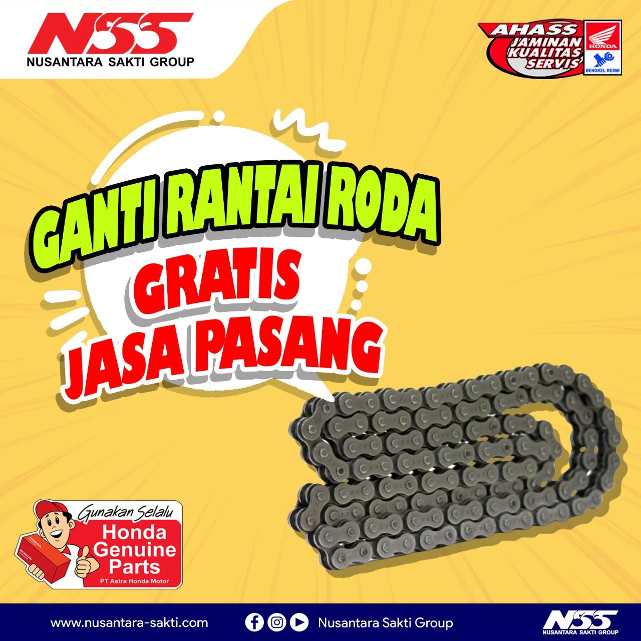 NSS Sungailiat - Promo ganti rantai roda gratis jasa pasang