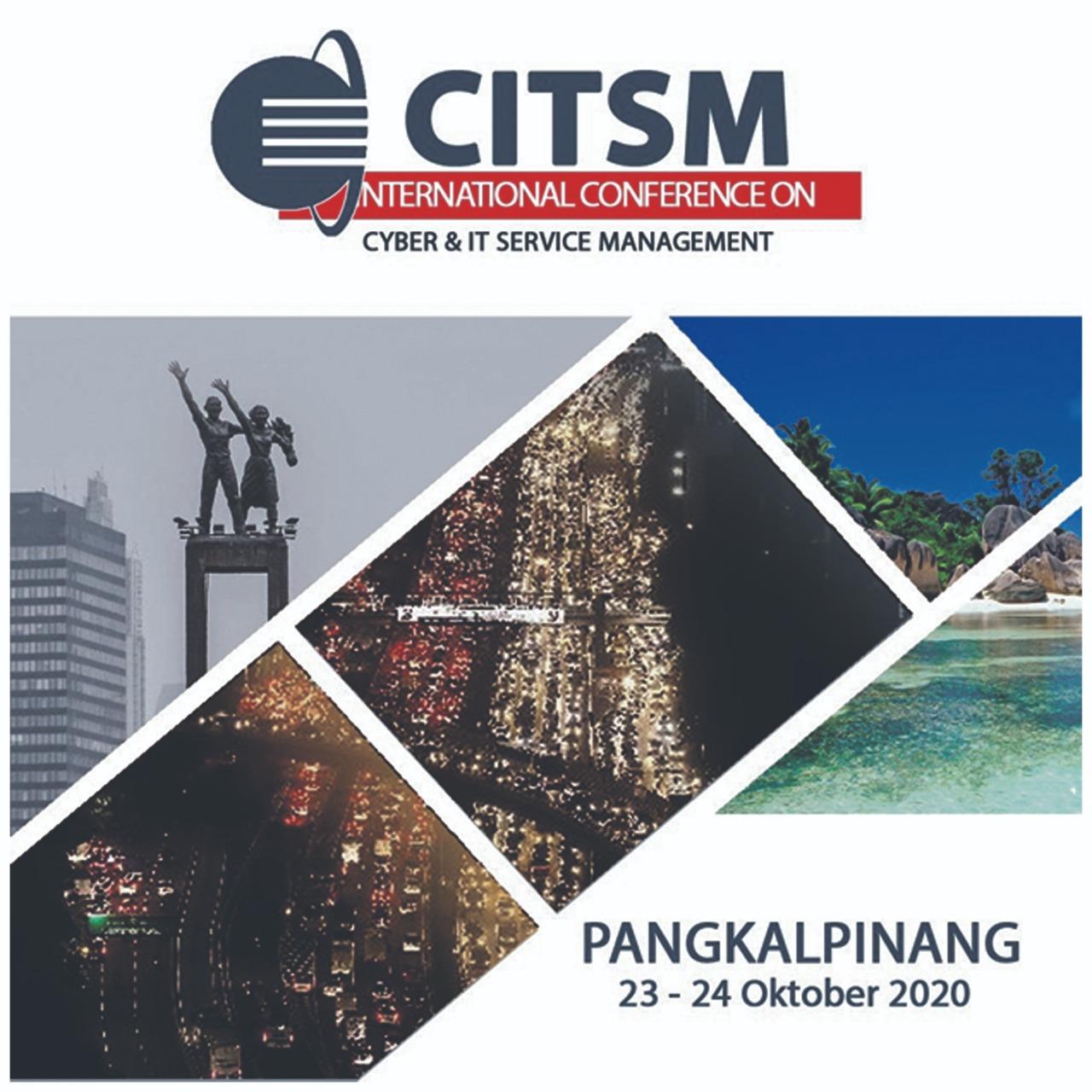 Seminar Internasional CITSM 2020 Terindeks Scopus