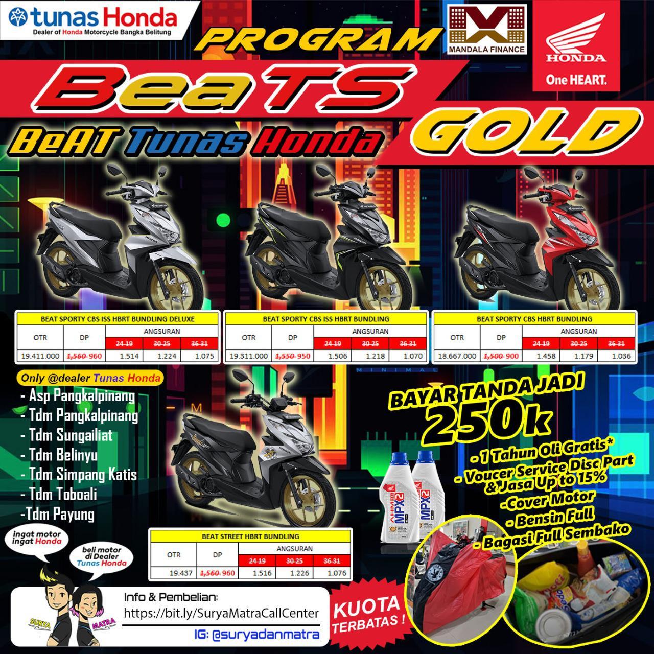 Tunas Honda Resmi melakukan launching New BeAT Special Edition (Velg Gold),(16/06).