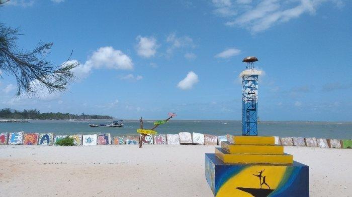 Banyak Spot Foto Menarik di Gateaway ke Pantai Menara di Manggar Belitung Timur