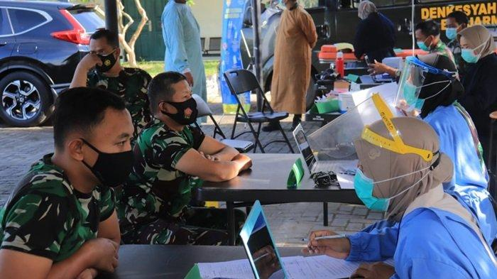Sebanyak 100 Prajurit TNI Kodim 1006 Martapura Jalani Vaksinasi Covid-19 Tahap II
