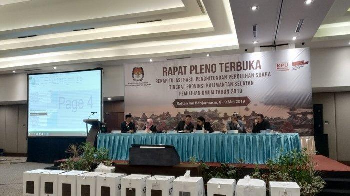 KPU Provinsi Kalsel Gelar Hari Pertama Rapat Pleno Rekapitulasi Suara Pemilu 2019