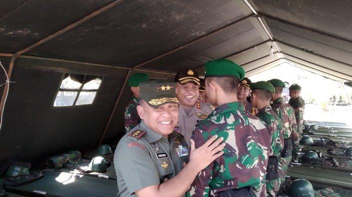 Pangdam VI Mulawarman Pantau Kesiapan Pasukan Pengamanan Rekapitulasi Suara Pemilu 2019 KPU Kalsel