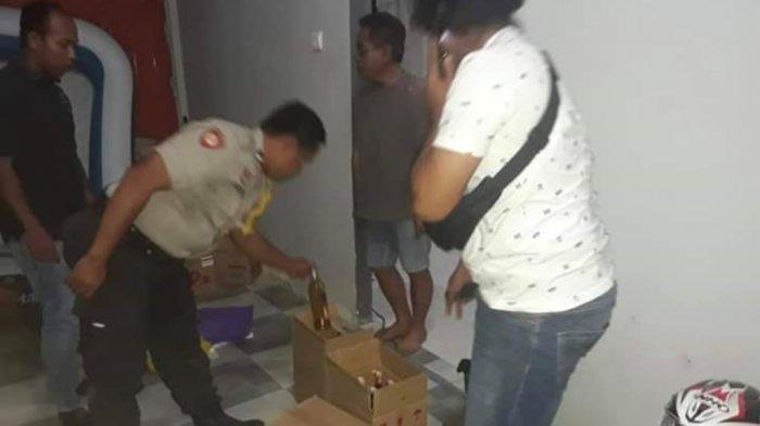 Puluhan Botol Miras Disita Polsek Angsana Tanbu, Pelaku Diamankan, Terjaring Operasi Sikat Intan