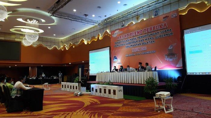 Dilanjutkan di Hari Kedua, Rapat Pleno Rekapitulasi Pilgub Kalsel Kembali Diskors