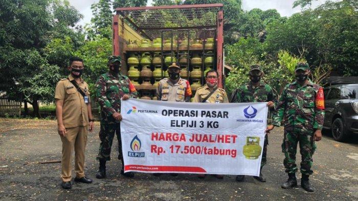 Dinas Perindustrian dan Perdagangan Kabupaten Tapin Suplai 6.720 Tabung LPG 3 Kg