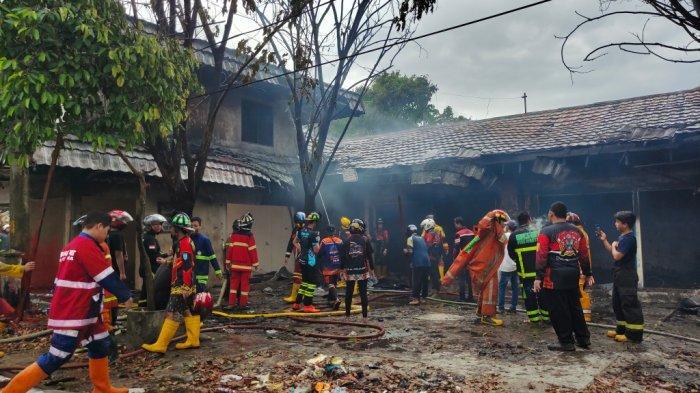 Kebakaran Kalsel, Polres Banjarbaru Selidiki Penyebab Terbakarnya eks Pasar Bauntung,