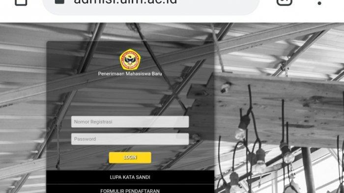 Sempat Error, Hari ini Portal PMB Jalur Seleksi Mandiri ULM Banjarmasin Sudah Bisa Diakses