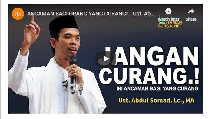 Aa Gym dan Ustadz Abdul Somad Kompak Jelaskan Hukum Orang yang Curang, Terkait Pilpres?