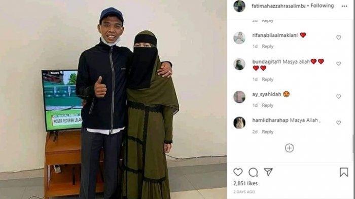 Seminggu Dinikahi Ustaz Abdul Somad, Ini Penampilan Baru Fatimah Az Zahra Saat Dirangkul Mesra UAS