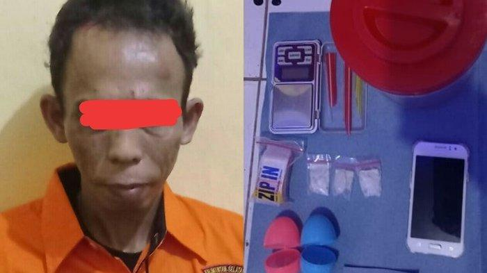 Narkoba Kalsel : Digerebek Polisi, Pengedar Sabu HSU Ini Lari ke Kolong Rumah