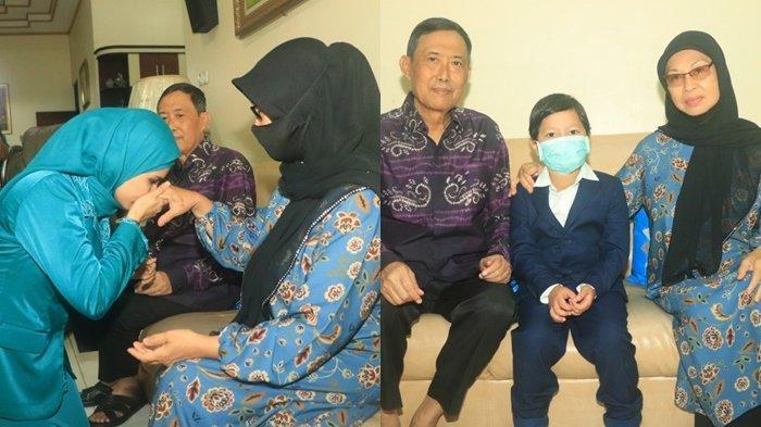 Sebelum dilantik, Wali Kota terpilih H M Aditya Mufti Ariffin didampingi istri dan anaknya sungkem dengan ibundanya di Jalan Garuda, Banjarbaru, Jumat (26/2/2021).