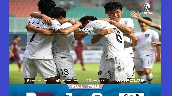 Hasil Qatar vs Korea Selatan Semifinal Piala AFC U-19 2018 : Skor Akhir 1-3, Korea Selatan ke Final!