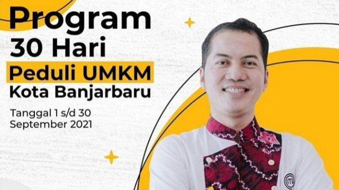 Bantu UMKM Terdampak Pandemi, Agus Sasirangan Promo Gratis Usaha Kuliner di Banjarbaru