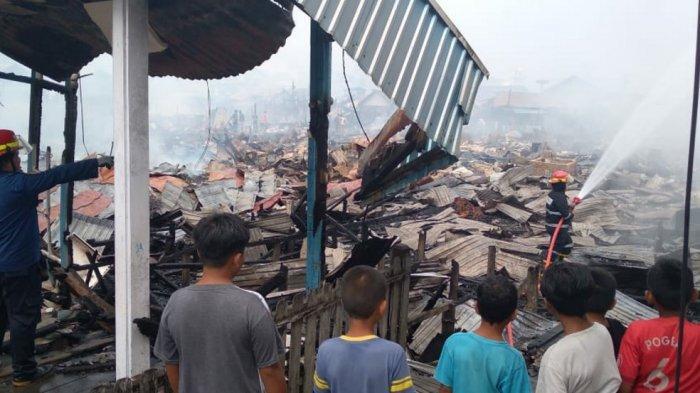 Kebakaran di Kotabaru, Data Sementara 140 Unit Rumah yang Hangus 450 Jiwa Kehilangan Tempat Tinggal