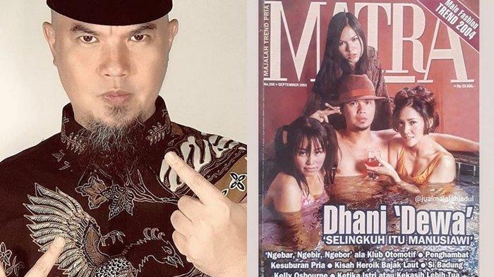 Foto Ahmad Dhani Berendam dengan Tiga Wanita di Cover Majalah Jadul Viral, Salah Satunya Maia