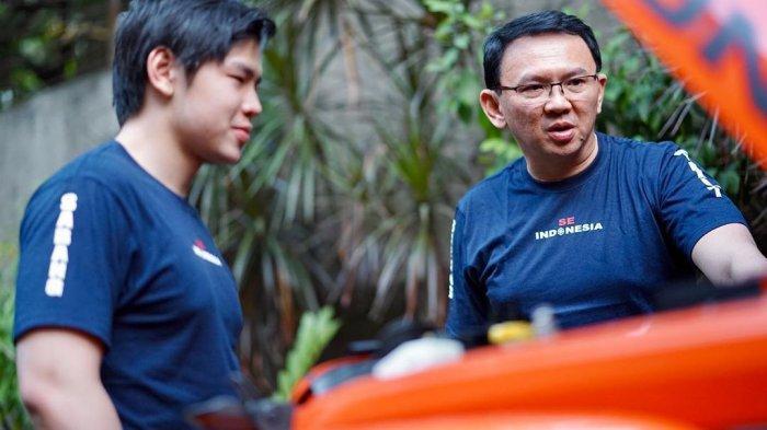 Ular Piton di Leher Nicholas Sean, Aksi Anak Ahok BTP dan Veronica Tan Bikin Heboh Media Sosial