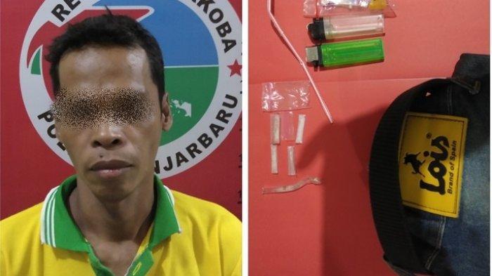 Narkoba Kalsel : Sehari Satresnarkoba Banjarbaru Bekuk 5 Anggota Jaringan Sabu, 1 Ibu Rumah Tangga