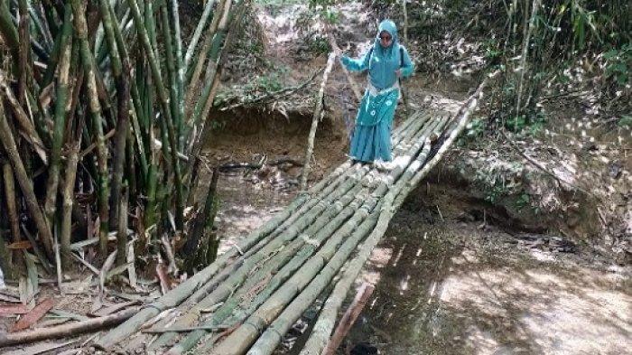 Wisata Kalsel :Rute ke Air Terjun Andikian di HST Cukup Menantang, Tapi Seru Lho