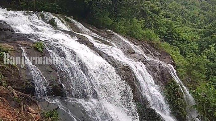 Wisata Kalsel, Air Terjun Pancoran Lima di Desa Sungai Bakar Kabupaten Tala