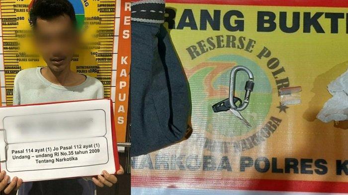 Digeledah Polisi di Desa Anjir Serapat Barat, Pemuda 21 Tahun Ini Kedapatan Simpan Sabu di Celana