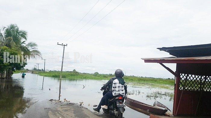 Banjir di Kalsel, 86 Rumah di Desa Tungkaran Kabupaten Banjar Terendam