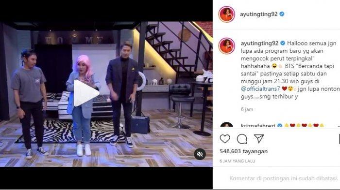 Aksi Ayu Ting di acara BTS, program baru bareng Andre Taulany dan Wendy Cagur