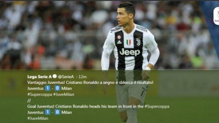 Juventus Juara Piala Super Italia, Gagal Gol Salto, Cristiano Ronaldo Tetap Bawa Juventus Juara