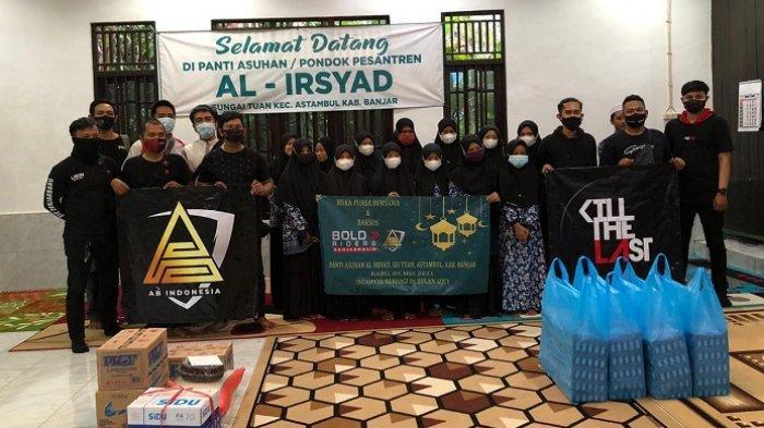 Bold Riders Banjarmasin dan AB Esport Team Berkolaborasi Berbagi di Panti Asuhan